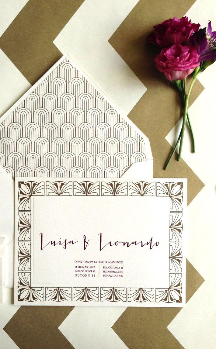 Identidade Visual Casamento Luisa e Leonardo por Boda Design - www.bodadesign.com.br