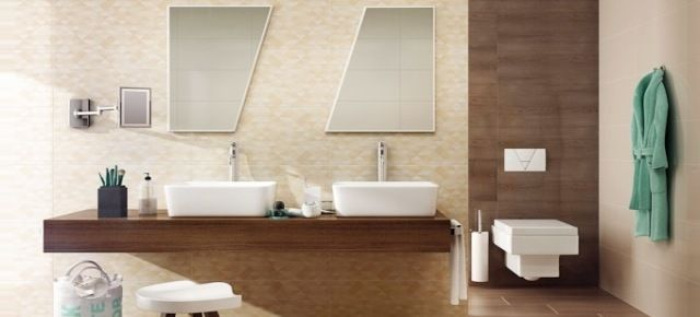 Płytki, które optycznie poprawiają wymiary łazienki. Fot: płytki Domus, Paradyż