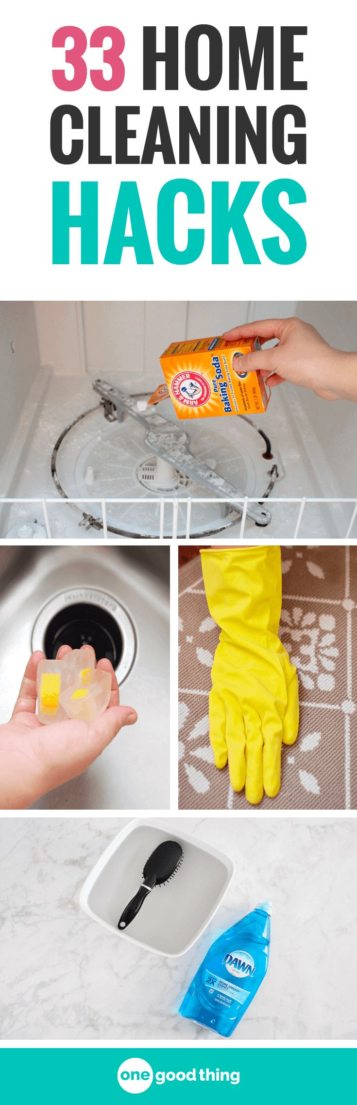I'm sharing 33 of my all-time best cleaning hacks for your house. These clever tips will leave your house sparkling clean, while saving you time and effort! #homecleaningtips