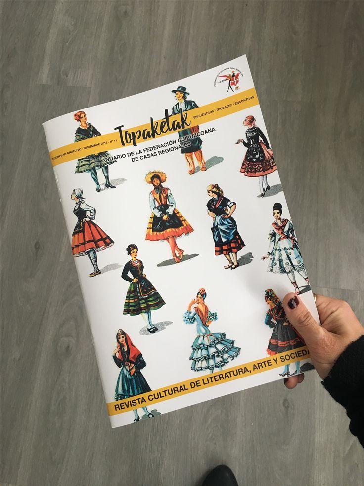 Topaketak - diseño y maquetacion de revista de casas regionales en gipuzkoa