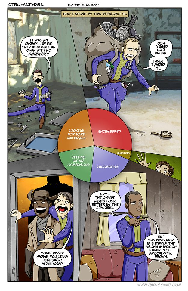 How I spend my time in Fallout 4 - Imgur