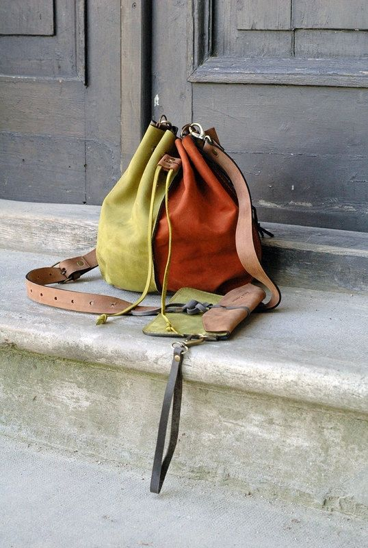 Small 4 COLOR leather woman bag baggy shape Maja by ladybuq