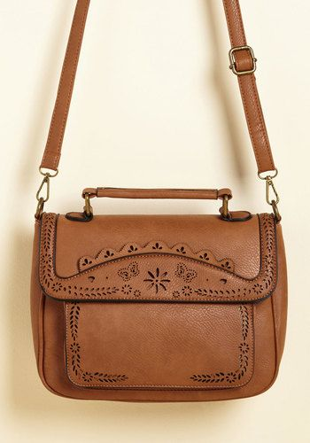 Leave Your Mark Bag in Toffee - Brown, Casual, Vintage Inspired, Darling, Faux Leather, Good