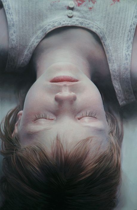 Gottfried Helnwein. This is a huge mural painting! Looks like a photo, doesn't it?