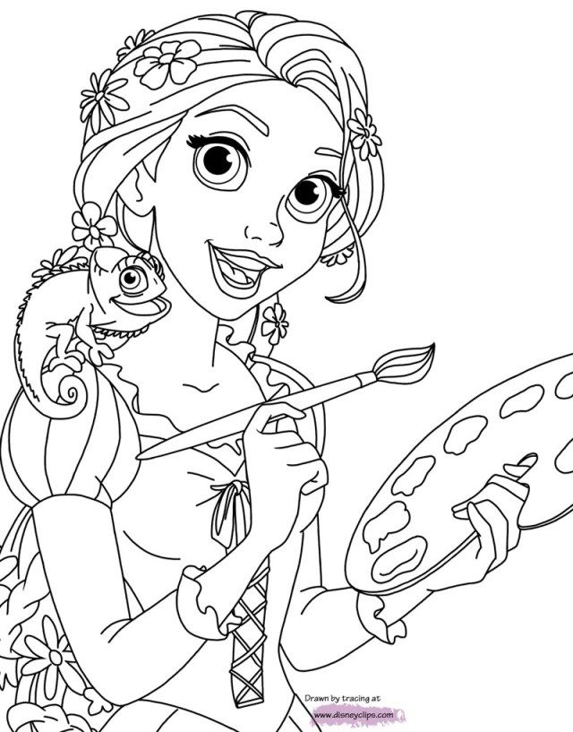 21 pretty image of rapunzel coloring pages tangled