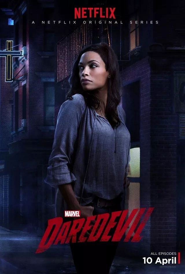 Rosario Dawson as Claire Temple | Marvel's Daredevil (Netflix) <<<< Ok, so don't judge me, but I really ship Claire and Matt/Daredevil. They're creaking adorable together <3