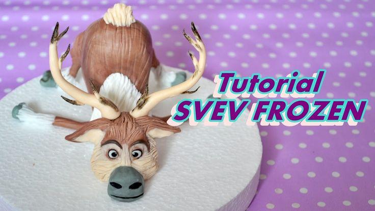 HOW TO MAKE SVEN FROZEN CAKE TOPPER FONDANT - TUTORIAL RENNA PASTA DI ZU...