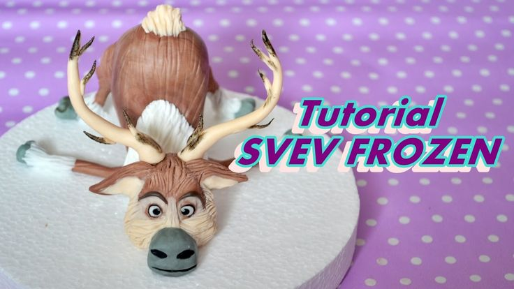 HOW TO MAKE SVEN FROZEN CAKE TOPPER FONDANT - TUTORIAL RENNA PASTA DI ZU...