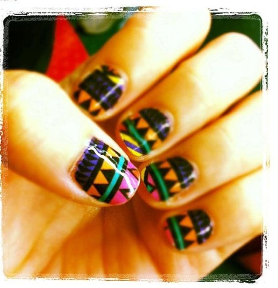 14 best mexican nail designs images on pinterest christmas nails mexico nail sticker by mdy627 on etsy 800 prinsesfo Gallery
