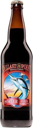 Cerveja Ballast Point Black Marlin Porter, estilo Porter, produzida por Ballast Point, Estados Unidos. 6% ABV de álcool.