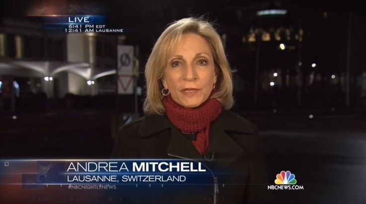 NBC's Andrea Mitchell Gushes John Kerry 'Doesn't Give Up Easily'; Touts Pizza Named After Him