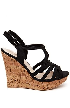Black Wedge Sandal. The shoe of the summer!