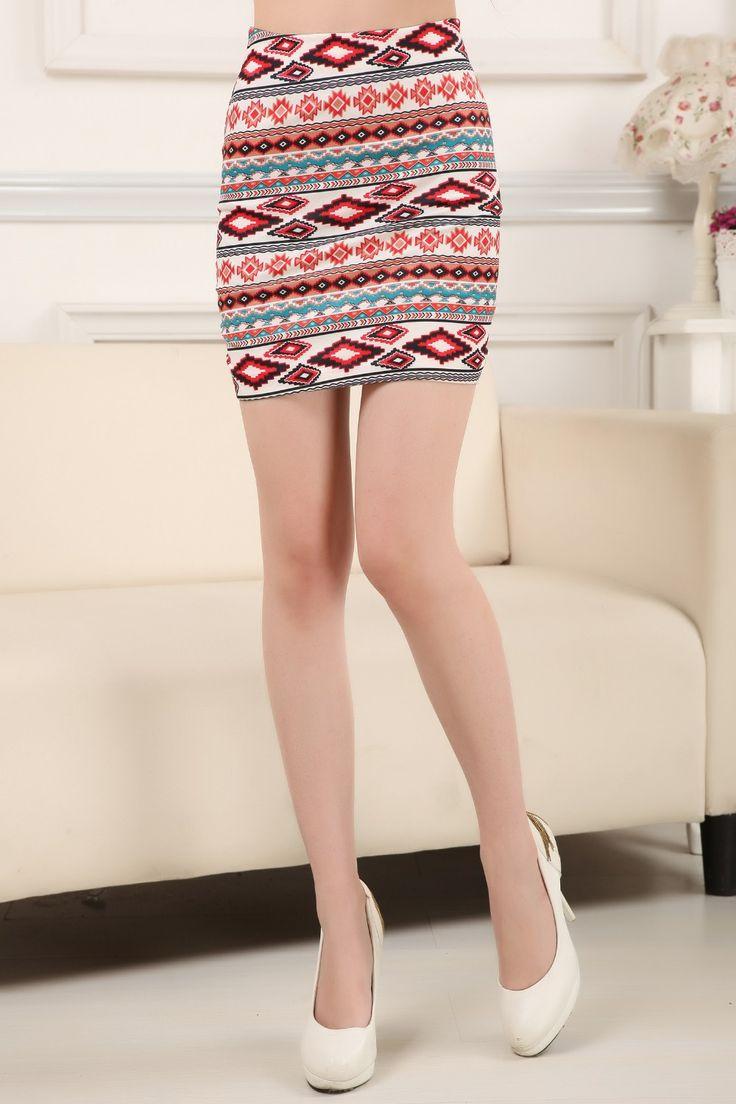 Sexy Womens High Waist Mini Skirt Cotton Stretch Plain Solid Floral Pencil Short…