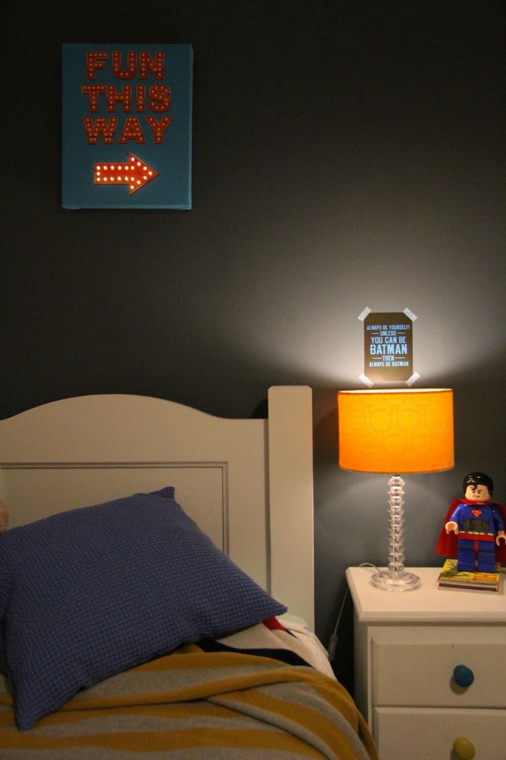 Kids bedroom with dark walls stiffkey blue colour by Farrow and ...