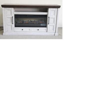 Stylewell Flint Mill 48 In Media Console Electric Fireplace In