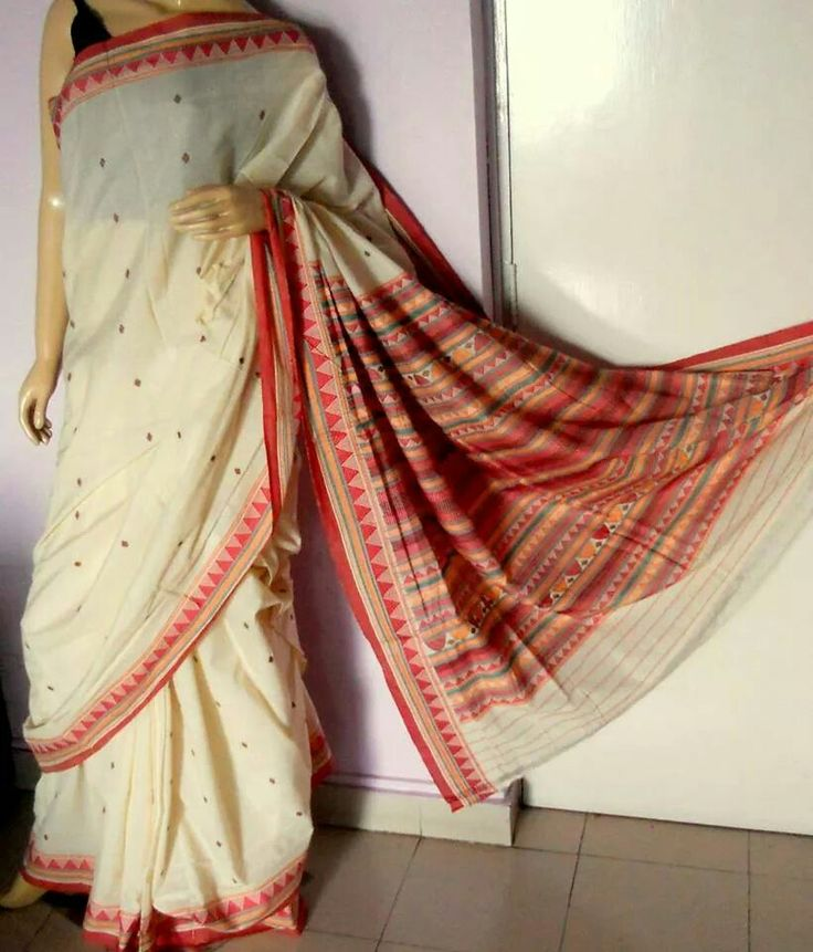 Handwoven Odisha tribal Donguria cotton saree