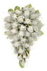 Букет для невесты №01, белый (розы латекс, каскад)