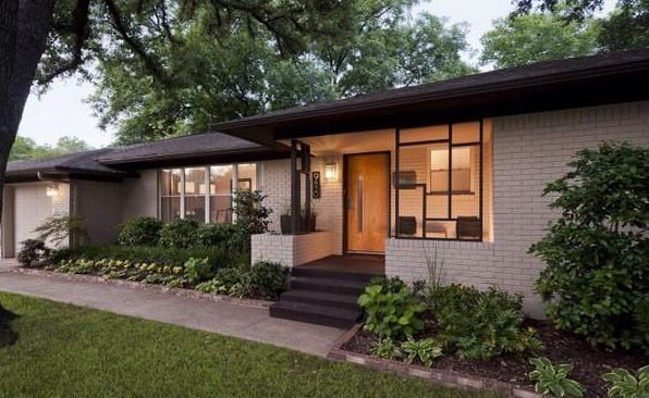 Mid Century Entrance Epiphany Exteriors Courtyards And