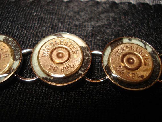 Bullet Casing Bracelet 38 Special by PirateSmileDesign on Etsy, $30.00