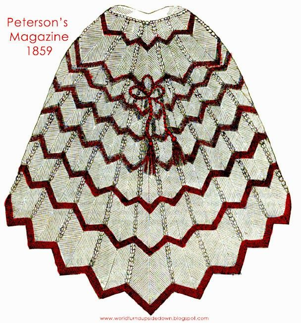 World Turn'd Upside Down: Knitted Civil War Era Talma Shawl Cape Pattern