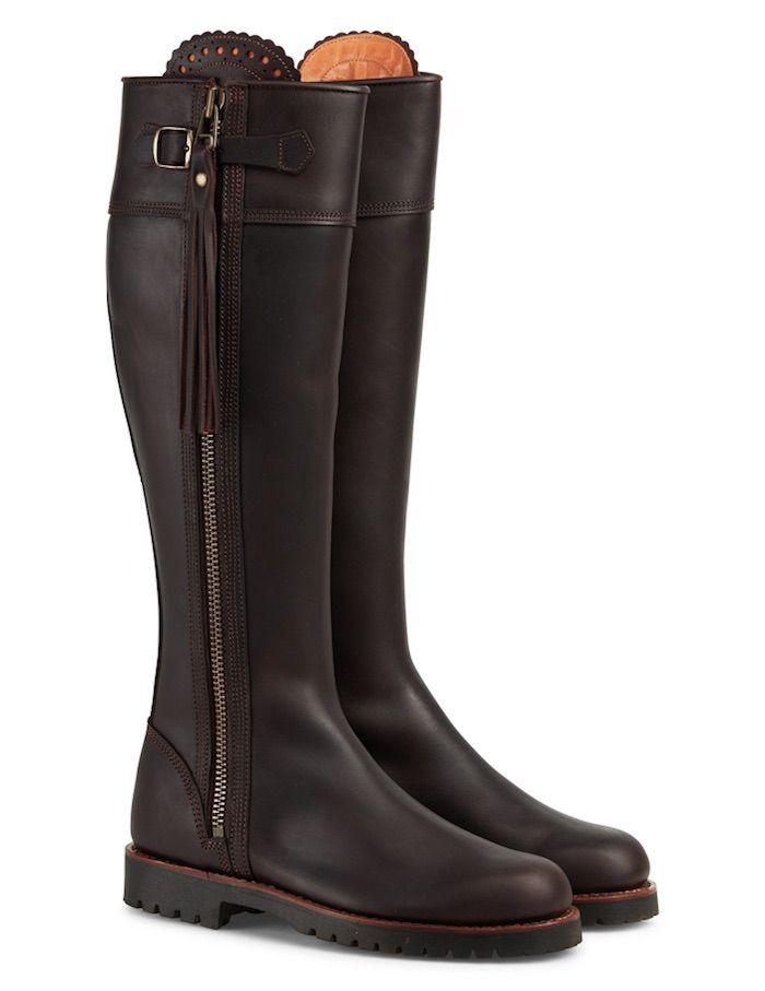 Penelope Chilvers Long Tassel Boots in Conker