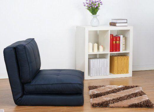 fauteuil chauffeuse convertible en lit d'appoint bleu foncé