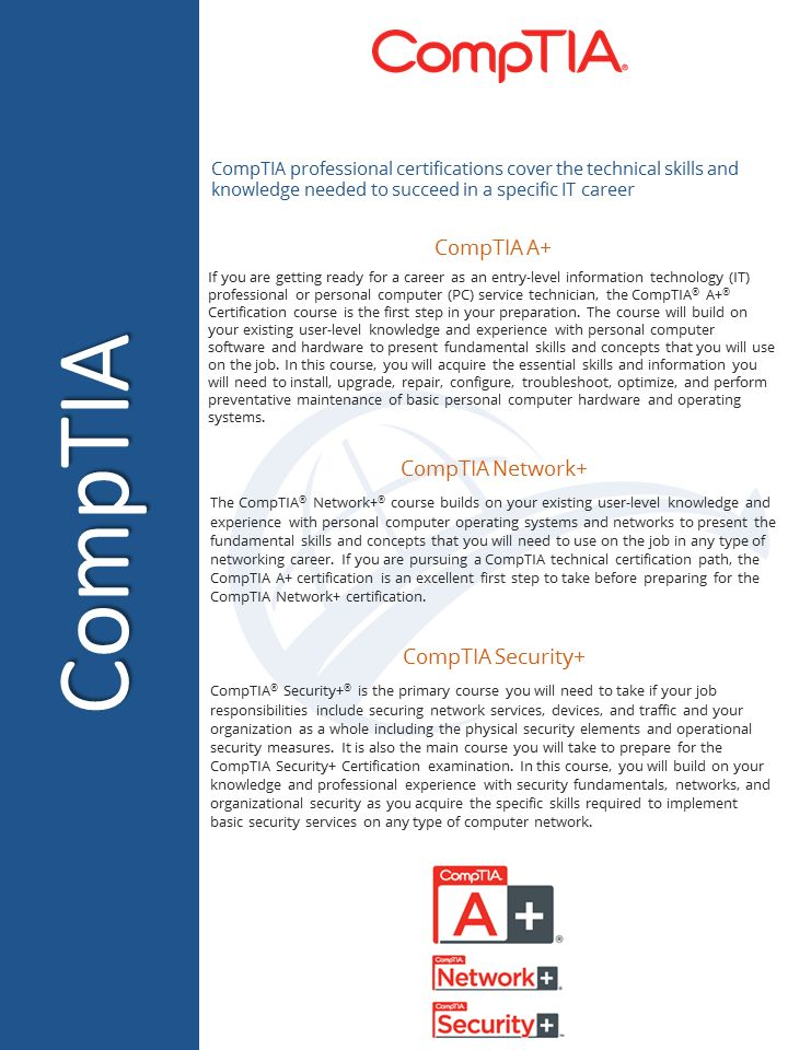 20 best certification programs images on pinterest coding our comptia a n security and linux training offers a comprehensive approach for students to achieve their comptia training goals and certifications fandeluxe Gallery