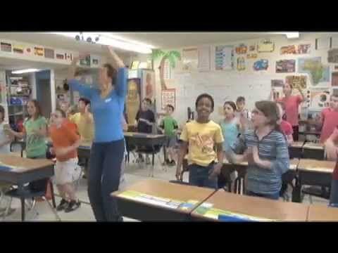 tafels oefenen met bewegingen Op het eind een slimme manier om de antwoorden van de tafel van 3 te leren onthouden!!