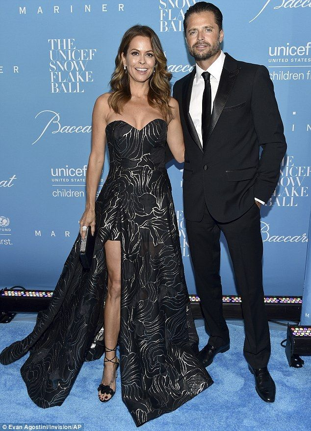 One good-looking couple: The 45-year-old was joined at the black tie affair by her husband David Charvet