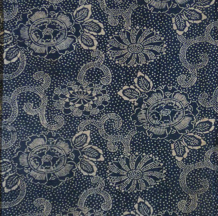 Katazome Cotton: Stippling