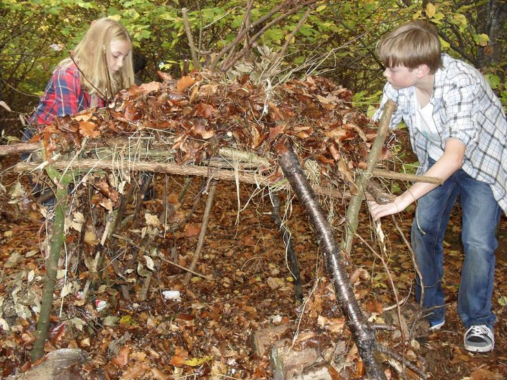 Making dens in the copse at Calcot Manor Hotel & Spa, Cotswolds, England http://www.calcotmanor.co.uk/for-families/