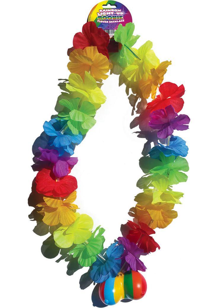 Buy Rainbow Light Up Boobie Flower Necklace online cheap. SALE! $10.99