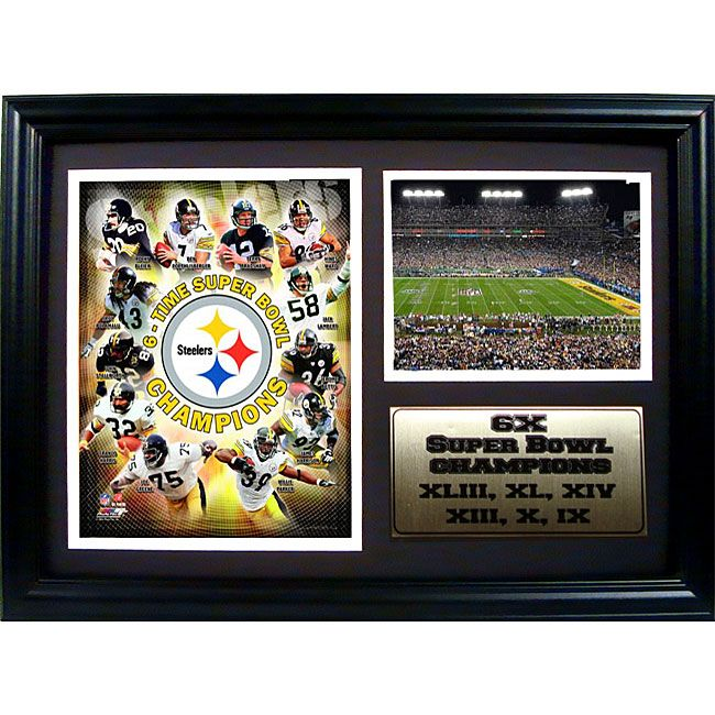steelers champions 12x18 framed collectible frame