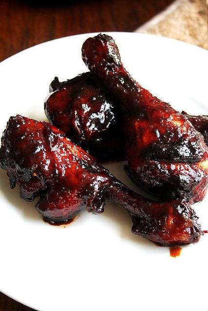 honey-soy chicken wings — I know these are drumsticks pictured here, but you can make the same recipe with wings and it makes a wonderful appetizer/hors d'oeuvres