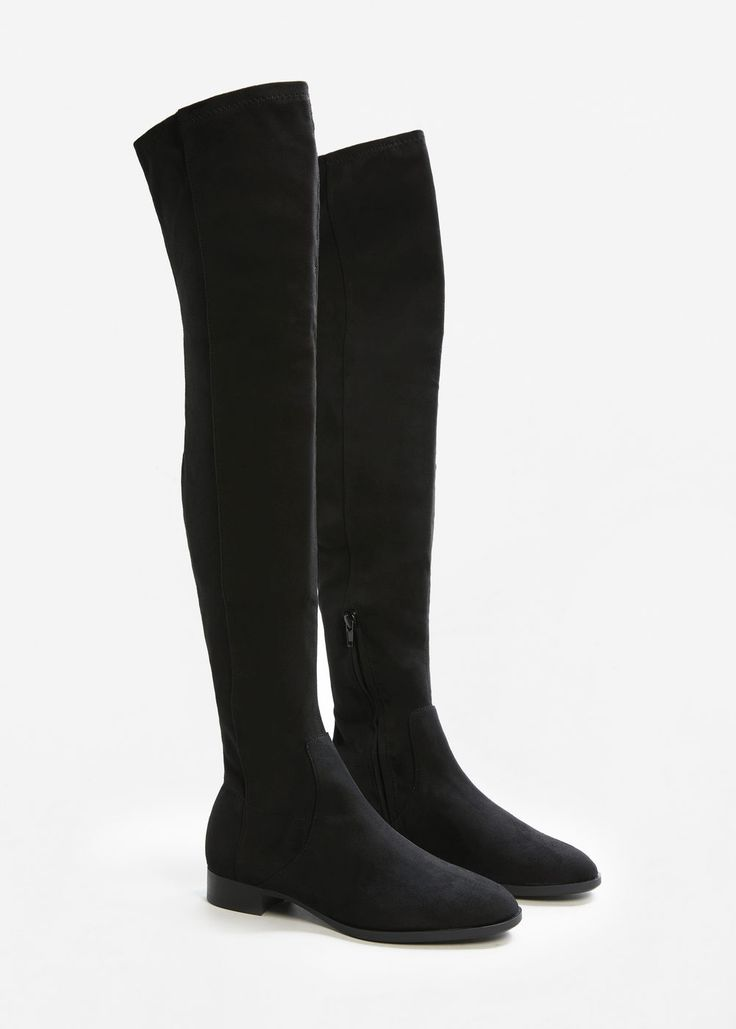 Bota alta rasa - Sapatos de Mulher | MANGO Portugal