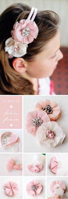 Diadema con flores - bejewelled flower headband