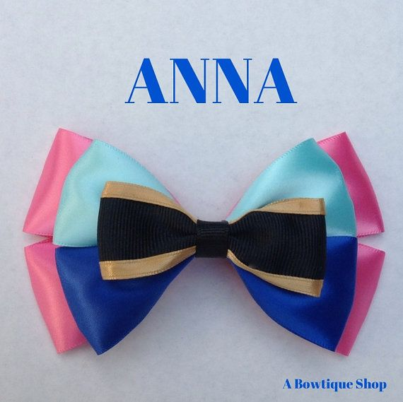 anna hair bow by abowtiqueshop on Etsy, $6.50  anna bow frozen bow frozen party disney bow disneybows disneybound