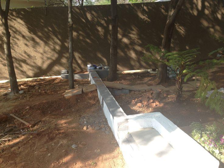 Waterproofing of retainer walls
