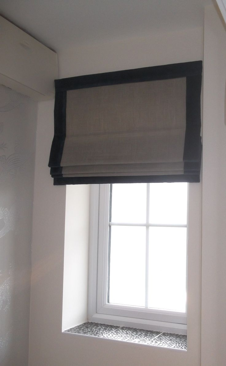 Bordered Roman Blind With Pelmet Google Search Hallway