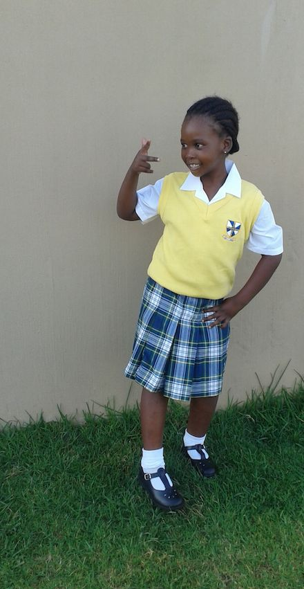 This young lady, Asanda, is now in grade R.