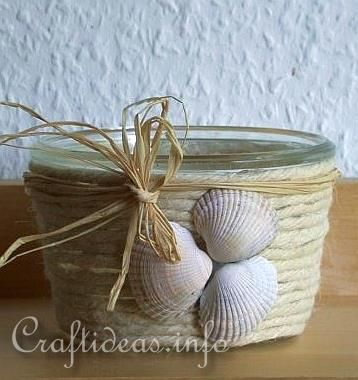 Summer Craft - Maritime Craft - Seashell Votive Glass