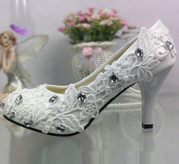 Кружева цвета слоновой кости свадебные туфли для женщин европейский дизайн новый TG299 шаблон женский дамы кружева rhienstones свадебная обувь