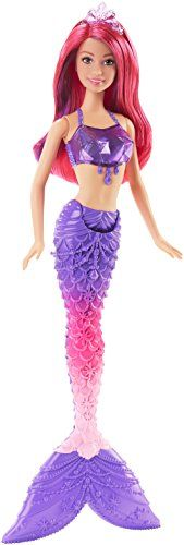 This wonderfully colorful mermaid makes a marvelous splash in the sea! A gorgeously decorated tail detailed accents and color-streaked hair set imaginations sailing. Inspired by her fairytale gem kin...