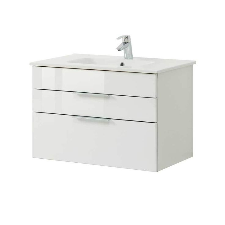 Die besten 25+ Waschbeckenunterschrank weiß hochglanz Ideen auf - badezimmerschrank 25 cm breit