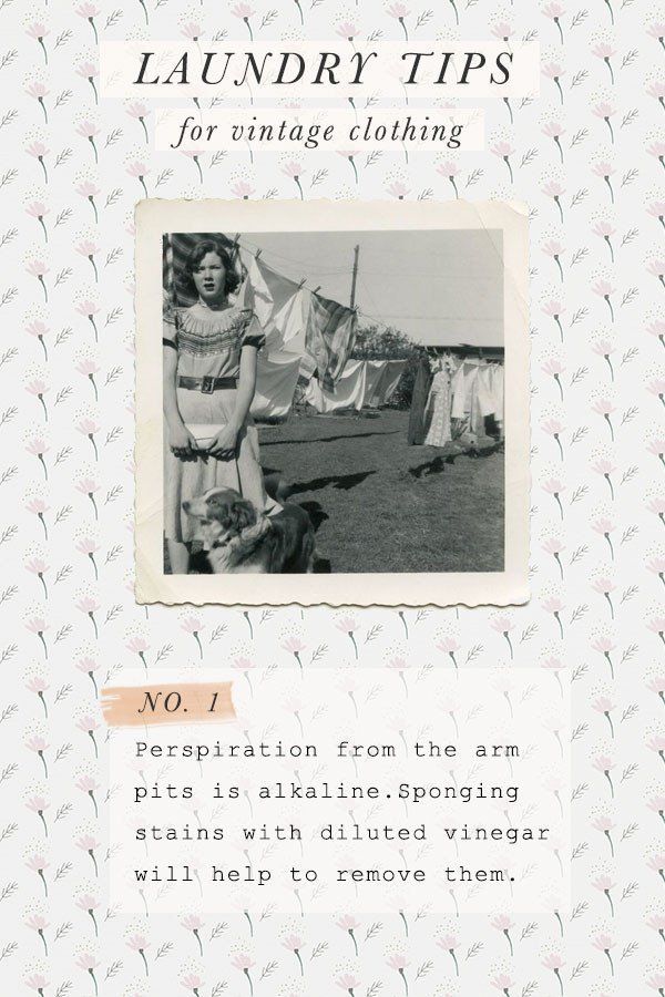 Vintage Laundry Tips from Adored Vintage