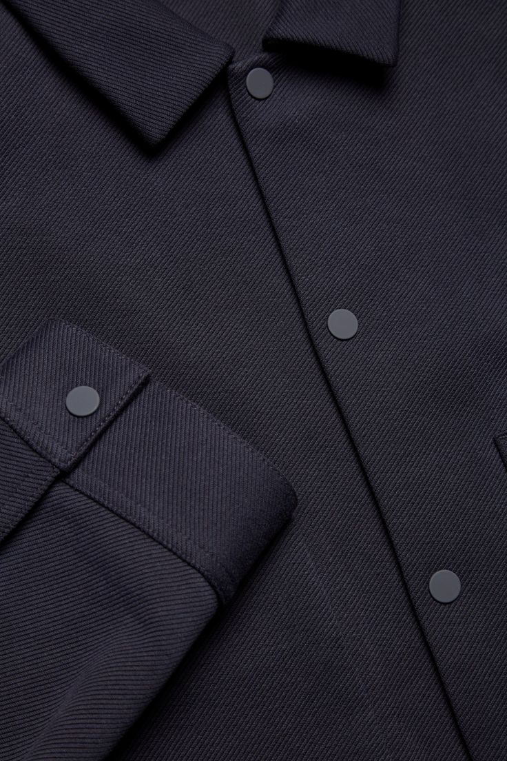 COS- Twill shirt jacket in Indigo