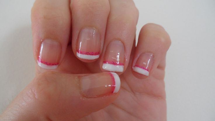 red and white french manicure pictures