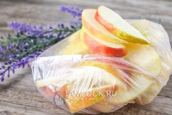Заморозка яблок на зиму в домашних условиях