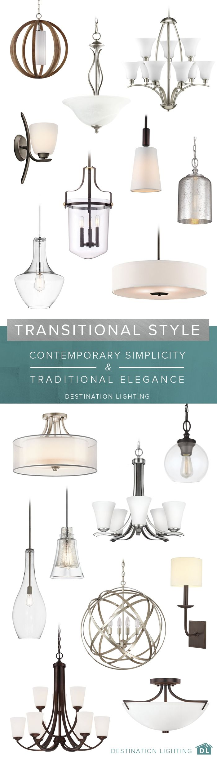 Contemporary simplicity meets traditional elegance with these beautiful transitional designs.