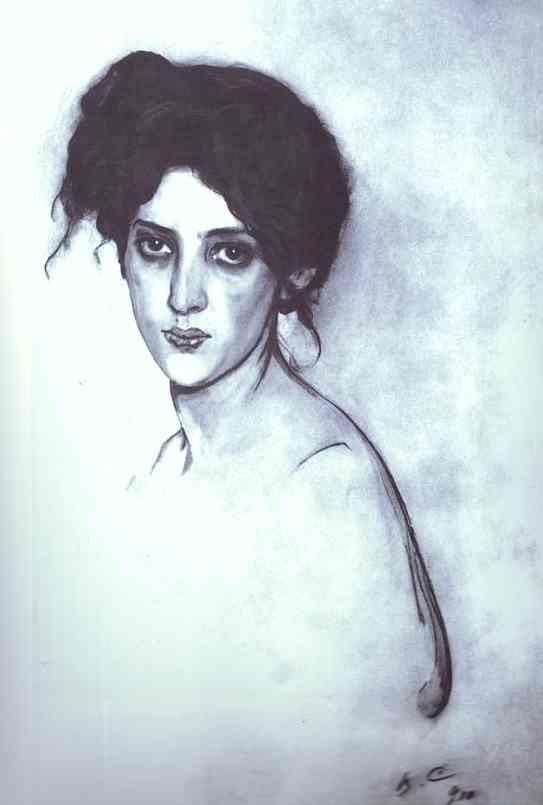 Валентин Серов Портрет Изабелла Юльевна Грюнберг Бумага, карандаш, акварель, белила 1910 66 x 42,5 Местонахождение неизвестно